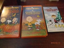 It's the Great Pumpkin Charlie Brown 1966 VHS & Charlie Brown Thanksgiving 1973