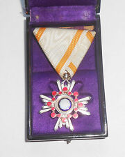 "Order of the Sacred Treasure ""Zuihosho"" 6th Class Solid Silver.  Nice case."