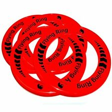 Pack of 12 Red Flying Rings - Fun Outdoor Summer Toys - Frisbee Type Toys