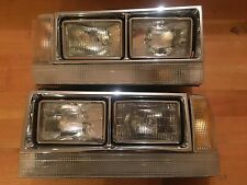 83-89 Volvo 740 760 Quad Headlights USA Style Set of 4 Rare  Dual 4x6 RARE IPD