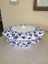 SPODE COLONEL BLUE LARGE COVERED VEGETABLE DISH SERVING BOWL Retail $427