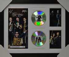 U2 SIGNED MEMORABILIA FRAMED 2 CD LIMITED EDITION V1 2016 #C