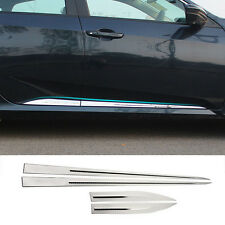 FIT FOR 16- HONDA CIVIC CHROME BODY MOLDING DOOR SIDE LINE TRIM COVER PROTECTOR