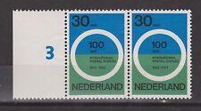 NVPH Nederland 791 paar velrand plaatnummer MNH PF landschapszegels NVPH 1963