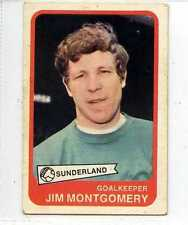 (Lr190-100) ABC Gum, Footballers Yellow Back, #58, Montgomery, Sunderland 1968,