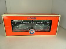 """LIONEL 6- 39450 LIONEL # 6414 EVANS AUTO LOADER with 4 GREEN AUTOS """"MINT"""" in OB"""