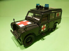 POLISTIL S49 LAND ROVER - MILITARY AMBULANCE  - ARMY GREEN 1:25? - VG