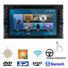 Double 2Din InDeck Touchscreen  Car Stereo DVD CD Player Bluetooth RDS TV R