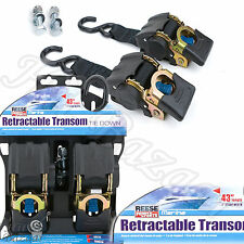Tie Down Straps Trailer Boat Buckle Retractable Cargo Transom Fishing Gear Pack
