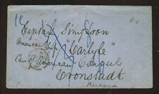 1861 cover sent to American Captain in Cronstadt, Russia