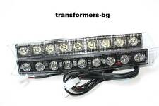 Daytime Running Lights Lamps 6000k AUDI Style 2005+ A5 A6 Q7 White 2 x 9 LED DRL