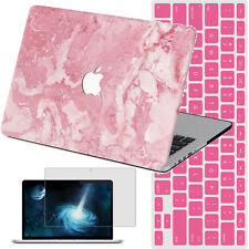 3IN1 Marble Painted Hard Case Laptop Cover for Macbook Pro 13/15 Retina12 Air 11