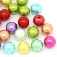 "50PCs Acrylic Spacer Beads Round Ball Mixed 14mm Dia.( 4/8"")"