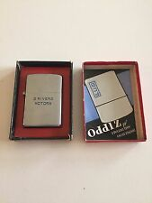 1947 Vintage Zippo Lighter 3 Barrel Hinge - 3 Rivers Motors - with Original Box