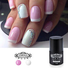 2 Colors White Pink French Nail Gel Polish Soak off Nail Art Manicure Set DIY