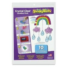 Shrinky Dinks Crystal Clear 10 Sheet Creative Pack -NEW!!