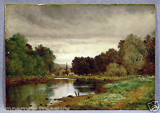 Landscape Oil Painting River Lee near Cork Ireland, signed Henry Pember Smith