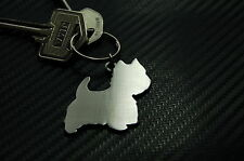 WESTIE West Highland Terrier Dog Breed Keyring Keychain Key Stainless Steel