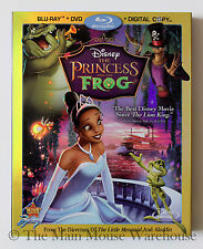 The Princess and the Frog New Orleans Blu-ray DVD & Digital Copy with Slipcover