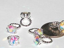 1 Pc Miniature TINY little fairy rainbow engagement wedding Ring Pendant charm
