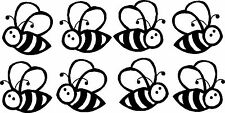 Buzzy Bee's Vinyl Sticker,Decal,Car Bumper,Window,Wall,Laptop BLACK