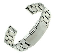 NEW Stainless Steel Bracelet Watch Band Strap Straight End Solid Links 22mm GFY