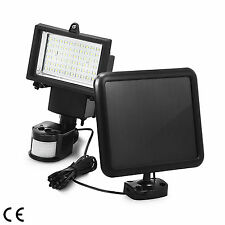 60 x SMD LED Solar Power Motion Outdoor Flood Light Sensor Security Garden Lamp