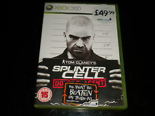 TOM Clancys Splinter Cell-DOUBLE AGENT-XBOX 360-MICROSOFT GAME-PAL