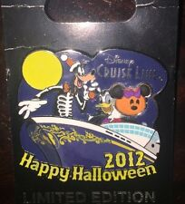 Disney Pin Happy Halloween 2012 Dcl Cruise Line Pumpkin Ship Le
