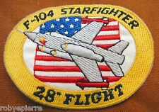 Patch in stoffa F-104 F104 STARFIGHTER 28° gruppo flight volo stormo aereo RARO