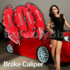 Red Brake Caliper Covers Auto Dics Chevrolet Chrysler Sliver Brembo Style Kit 4P