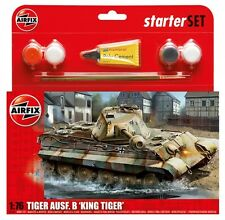 AIRFIX KING TIGER TANK Starter Set - Military - Model Kit - Tank