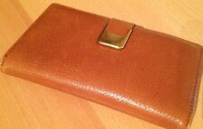 Lovely Vintage Tan Purse/Brown/Gold Metal Detail/1960's/Handbag Accessory