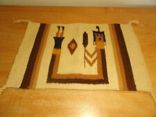Vintage Woven Wool Indian Native American Style Yei Tapestry Wall Art/Table Mat