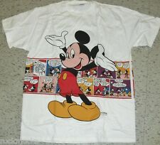 Vintage 90s MICKEY MOUSE --COMIC STRIP Design- Disney T-Shirt Brand New! sz. XL