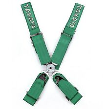 "Black/Green 3"" Takata Racing Harness 4-point Quick Release"