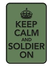 Keep Calm and Soldier On PVC Rubber Badge Military Tactical Patch Hook Back