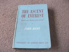 THE ASCENT OF EVEREST BOOK-BY JOHN HUNT-1954-AGE WORN-BY UNI. OF LONDON PRESS