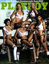 Playboy Juli/07/2011 NATIONALSPIELERINNEN mit Abo-Cover