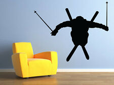 "Skier Ski Jumper Vinyl Wall Decal for Home Decor 35""x29"" MADE IN USA"