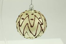Antique Handblown Glass Christmas Ornament Made Germany Maroon Handpainted