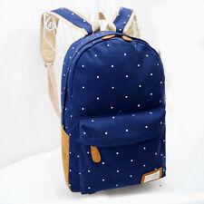 Women Girl Canvas Rucksack Backpack Travel School College Laptop Shoulder Bag