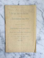 Ce qui fait le charme d'une Distribution des Prix Emmanuel Delporte 1921