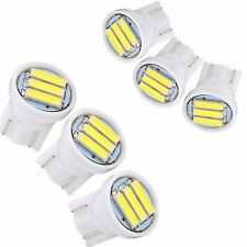 10PCS T10 3 SMD 7020 LED 1W White W5W Wedge License Plate Car Light Lamp DC 12V