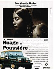 Publicité Advertising 1992 Jeep Wrangler Limited Renault
