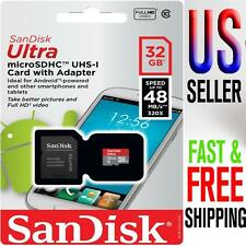 SanDisk 32GB microSDHC Memory Card Ultra Class 10 UHS-I with microSD Adapter