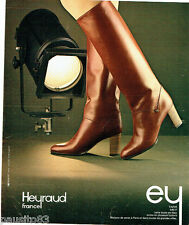 PUBLICITE ADVERTISING 036  1978  HEYRAUD les bottes Tapir