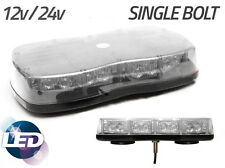 LED LIGHTBAR Mini Bolt Mount Recovery Flashing Warning Strobe Mini Amber Beacon