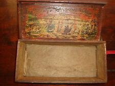 Antique Child's Toy Set Wood Tool Box The Boys Favorite Tool Chest No. 245