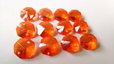 50 Orange Octagon Chandelier Crystals Beads Prisms Suncatcher Octagons